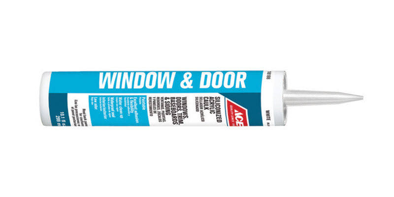 Ace Window & Door Siliconized Acrylic Caulk - White