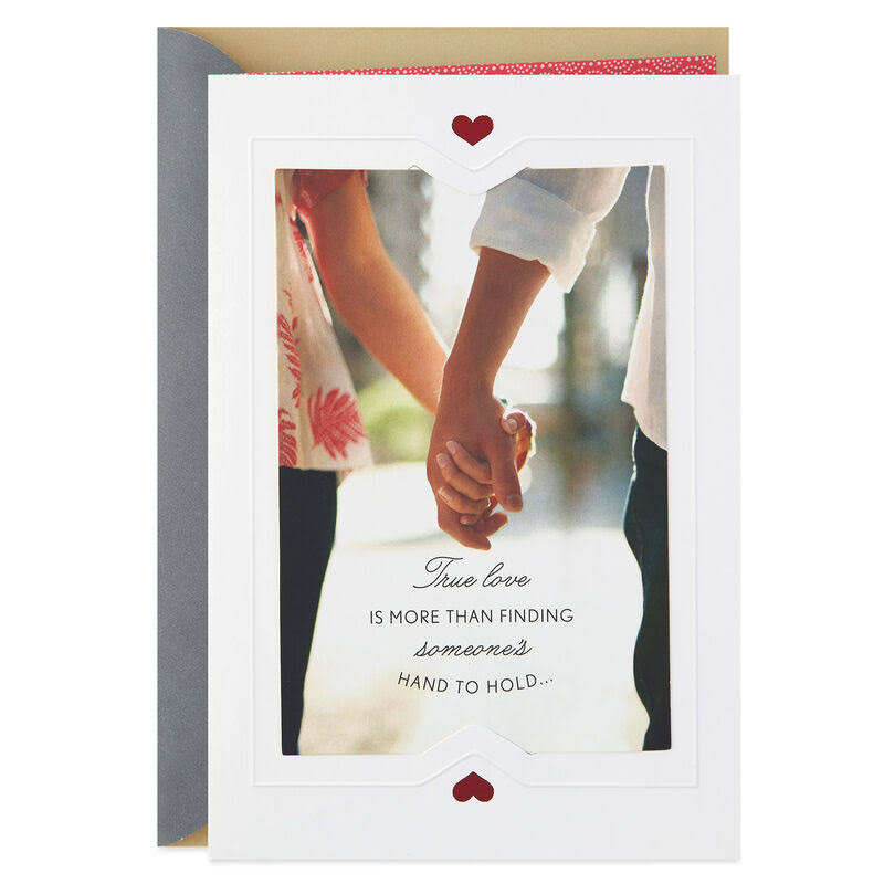 Never Letting Go of Hands Anniversary Card