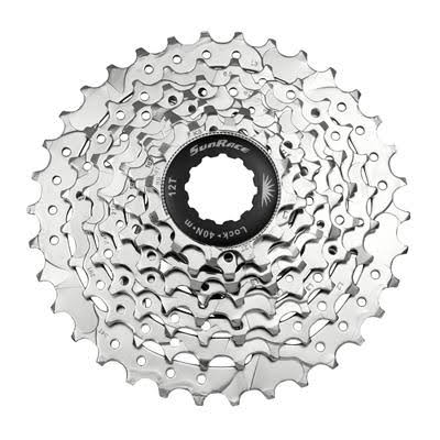 Sunrace Nickel Plated Bike Cassettes - 12-34T, 8 Speed