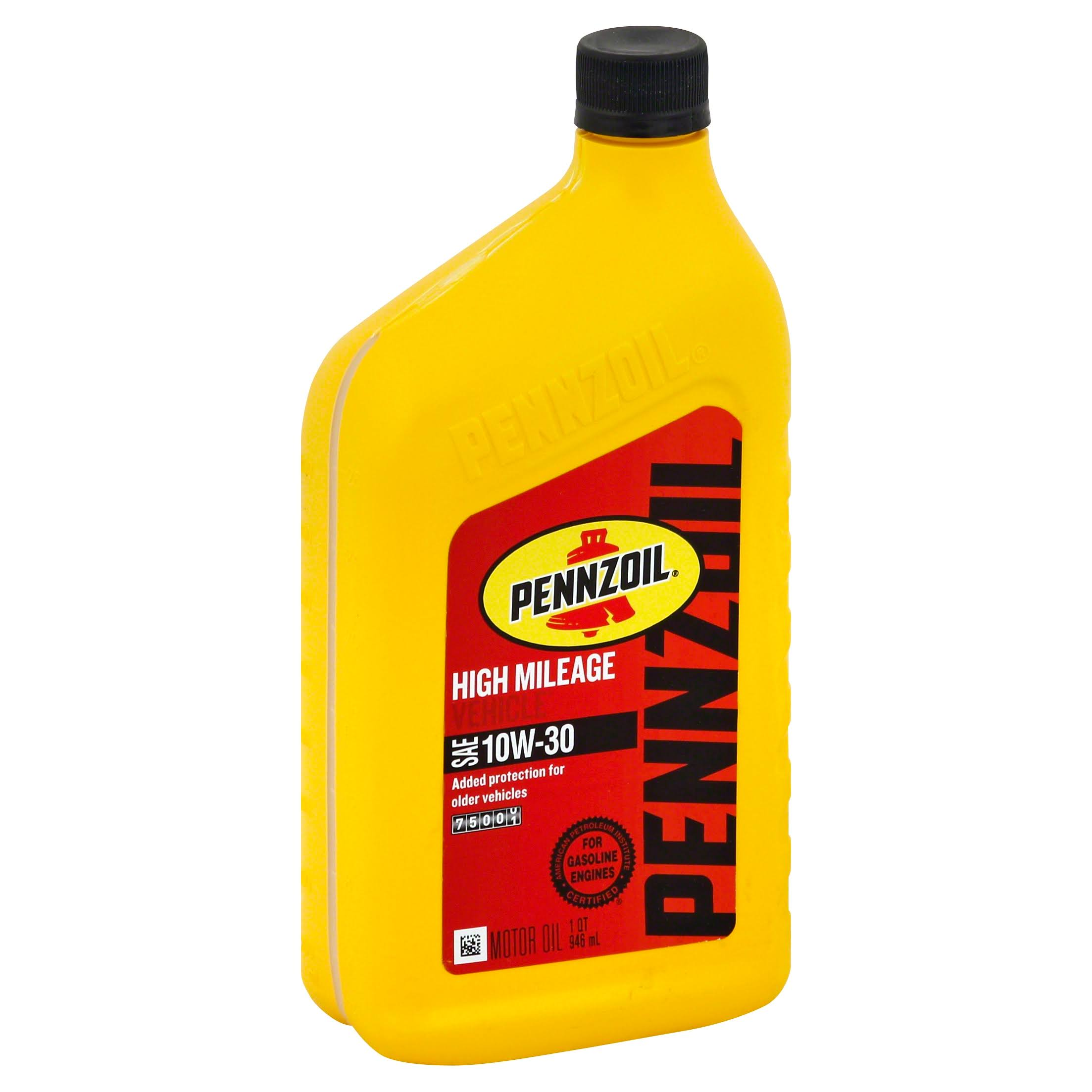 Pennzoil 160554 High Mileage Vehicle 10W30 Motor Oil - 1qt