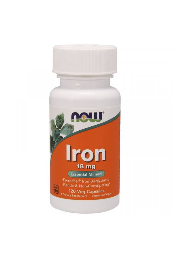 Now Foods Iron - 18mg, 120 Veg Capsules