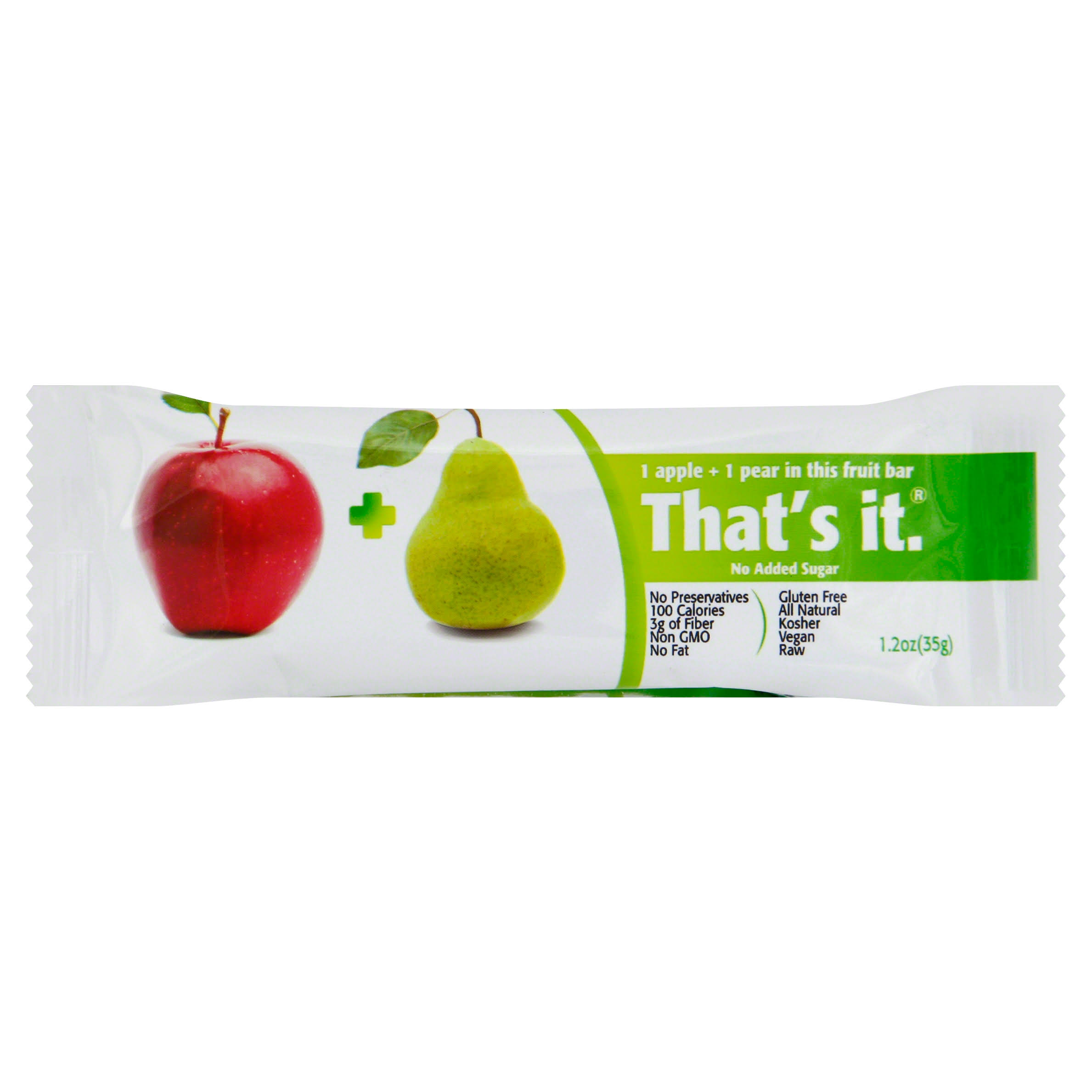 That's It Fruit Bar - Apple and Pear, 1.2oz
