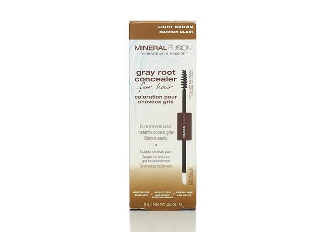 Mineral Fusion Gray Root Concealer, Light Brown - 0.28 oz.