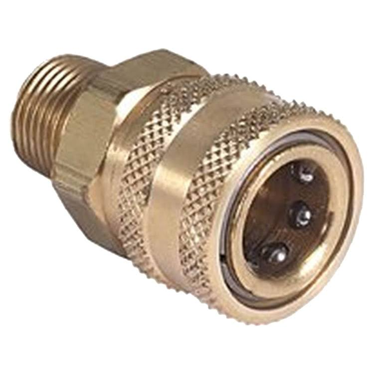 "Mi-T-M Pressure Washer Quick Connect Socket - Brass, 3/8"" X 1cm"