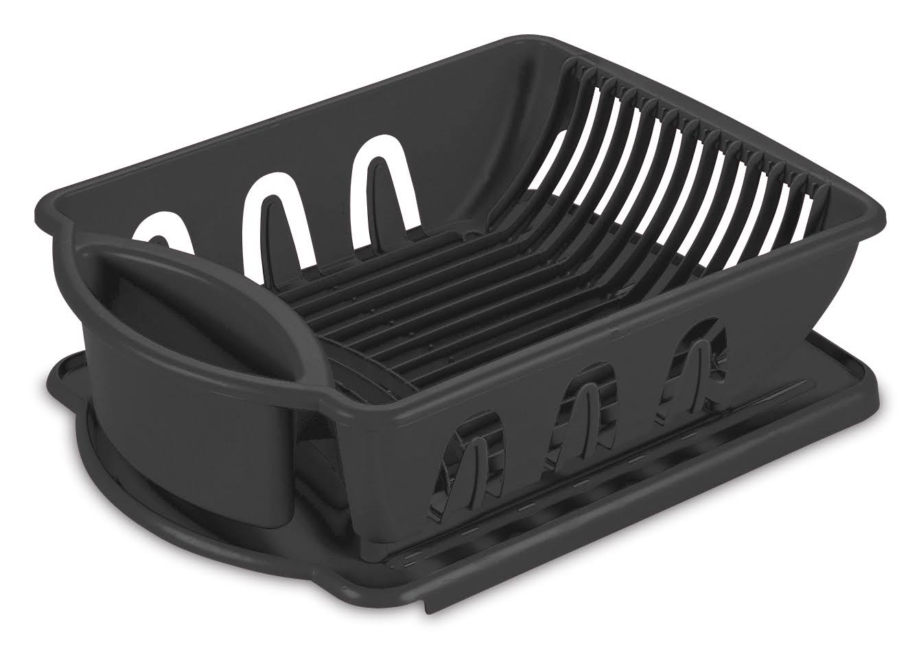 Sterlite Sink Dish Rack Drainer - Black, Medium