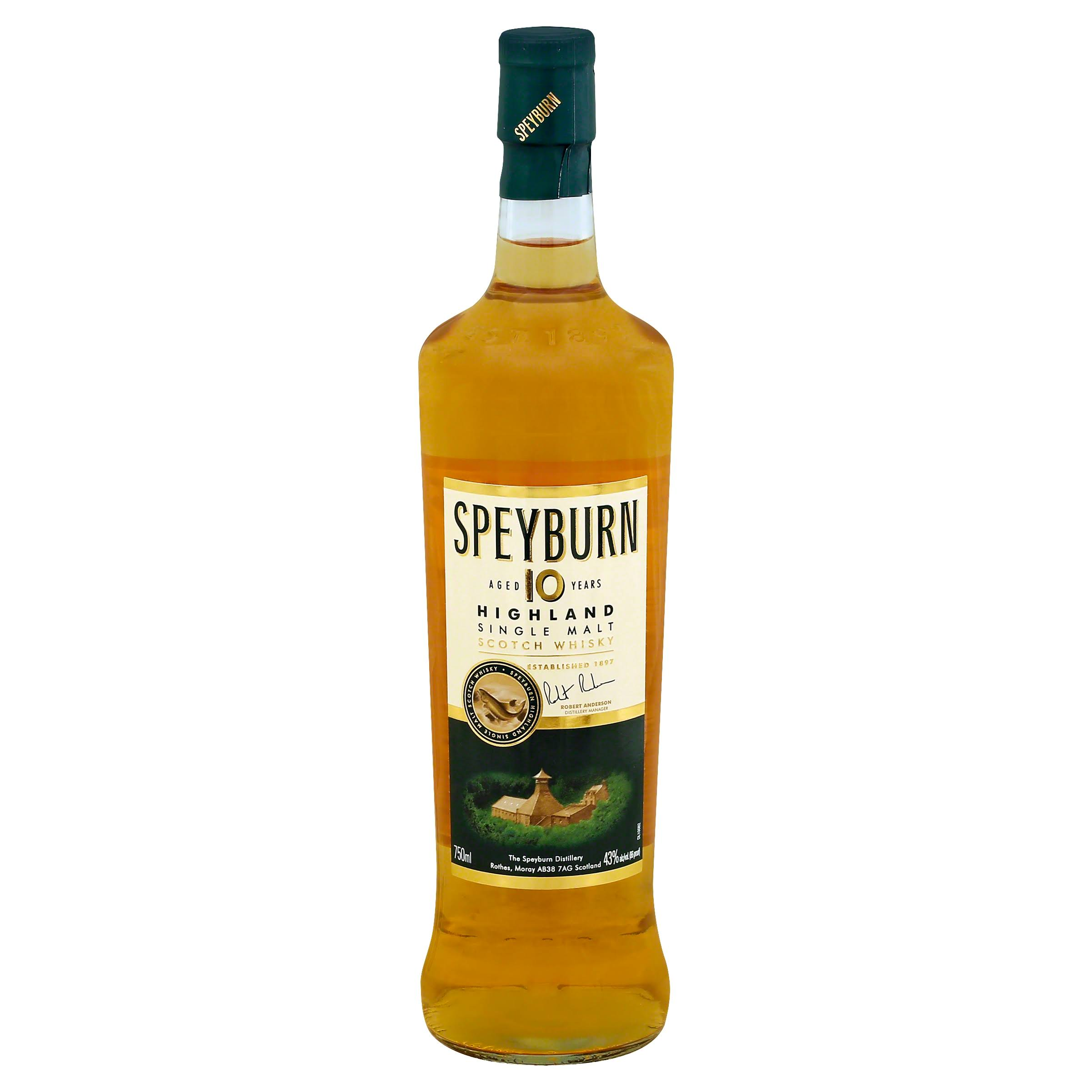 Speyburn Whisky, Highland Single Malt Scotch - 750 ml