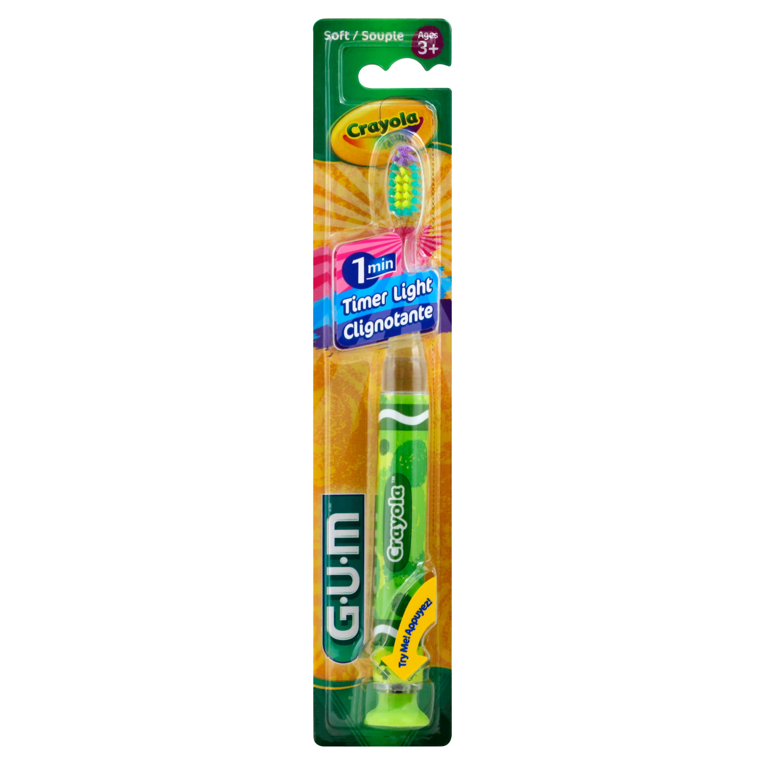 Gum Crayola Flashing Light Toothbrush - Soft