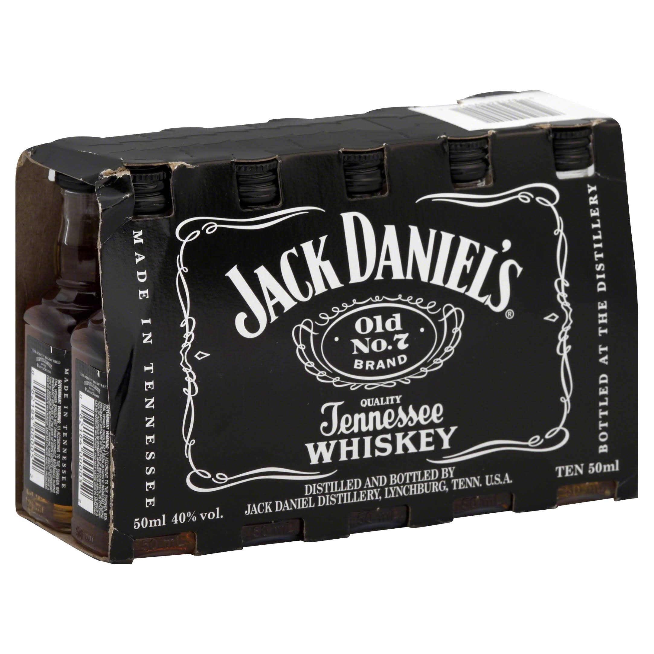 Jack Daniel's Old No 7 Whiskey 10x 5cl Miniature Pack