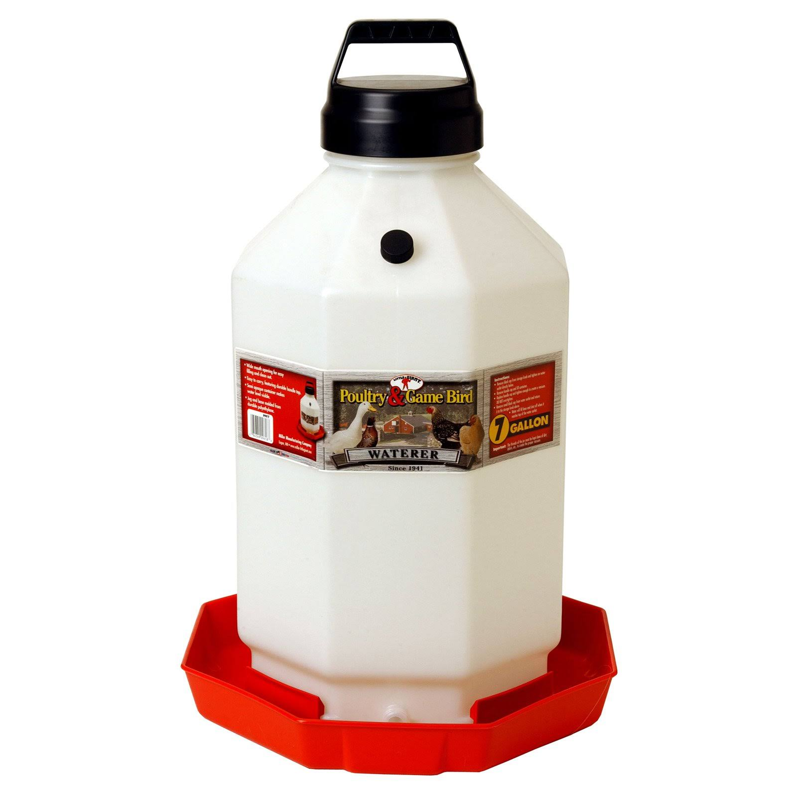 Miller PPF7 Plastic Poultry Waterer - Red