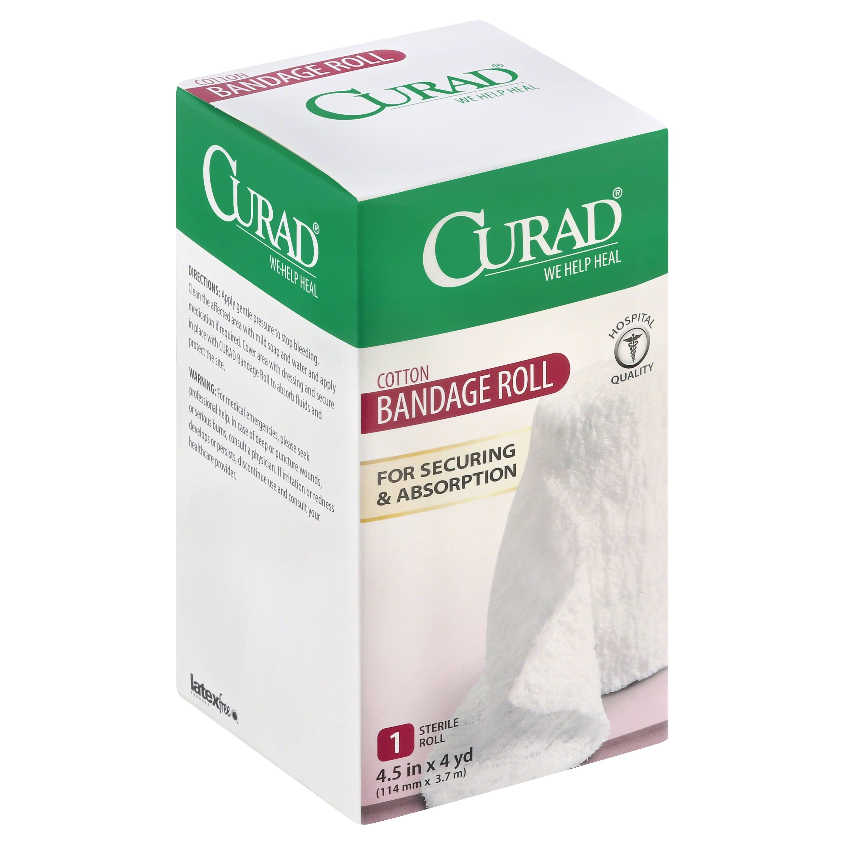 Curad Cotton Bandage Roll - 114mm x 3.7m