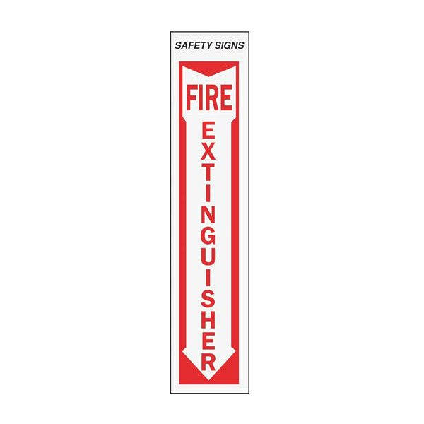 "Hy-Ko Products Fire Extinguisher Sign - 4""x18"""