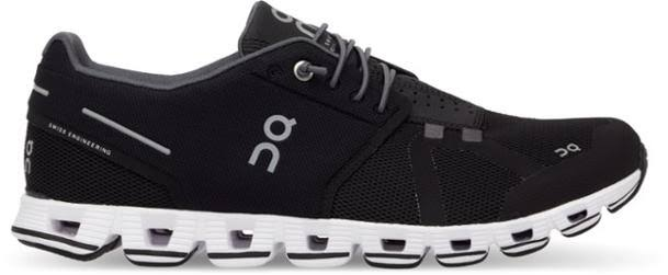 on Women's Cloud Running Shoes - Black/White - 6.5