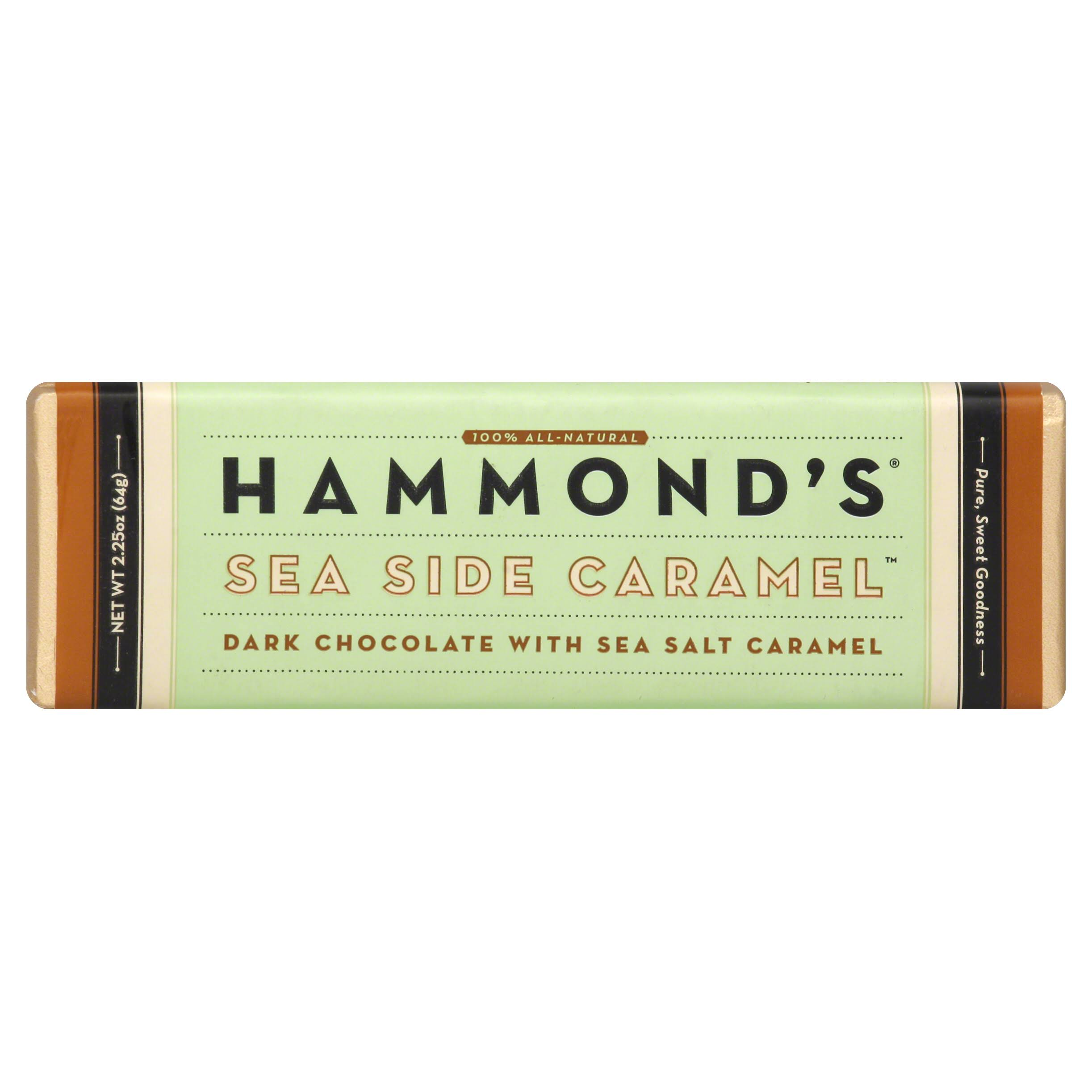 Hammond's Candies Sea Side Caramel Dark Chocolate - with Sea Salt Caramel