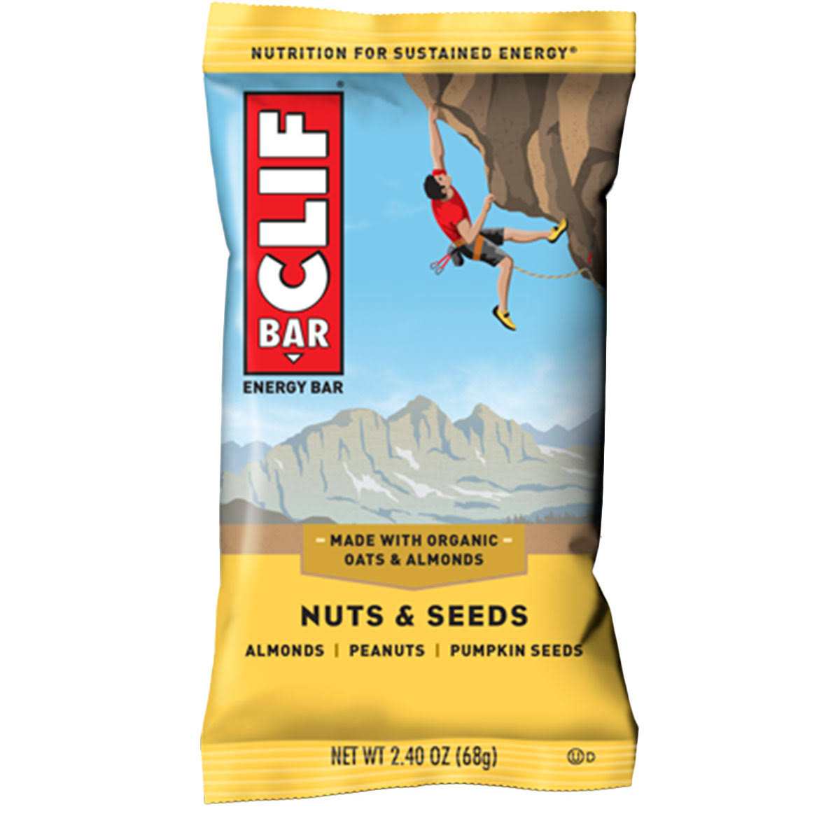 Clif Organic Energy Bar - Nuts and Seeds Bar, 2.4oz