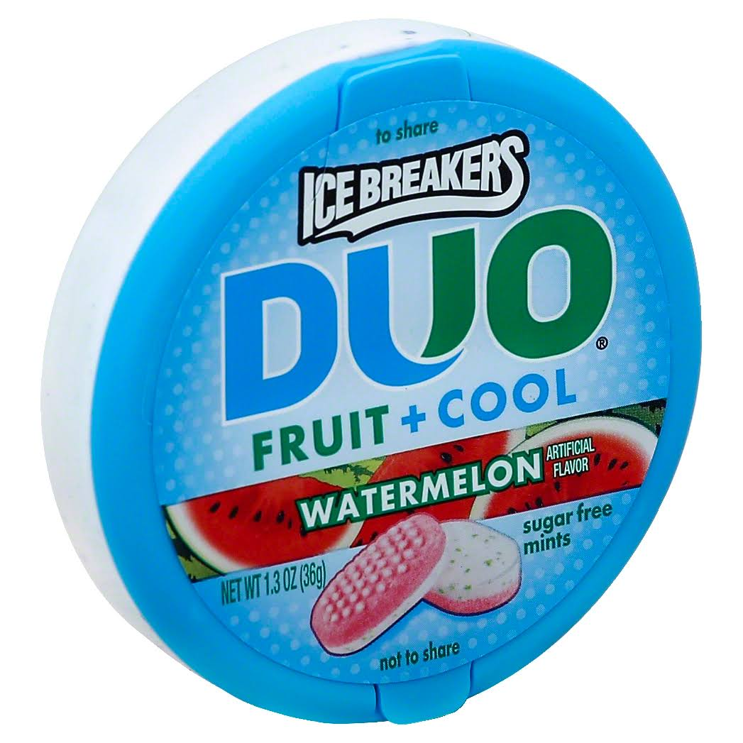 Ice Breakers Duo Fruit + Cool Sugar Free Mints - Watermelon