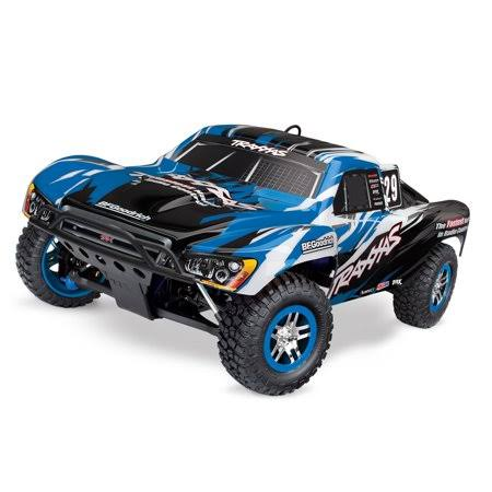 Traxxas Slayer Pro 4x4 Nitro RTR Short Course RC Truck w/TSM Blue