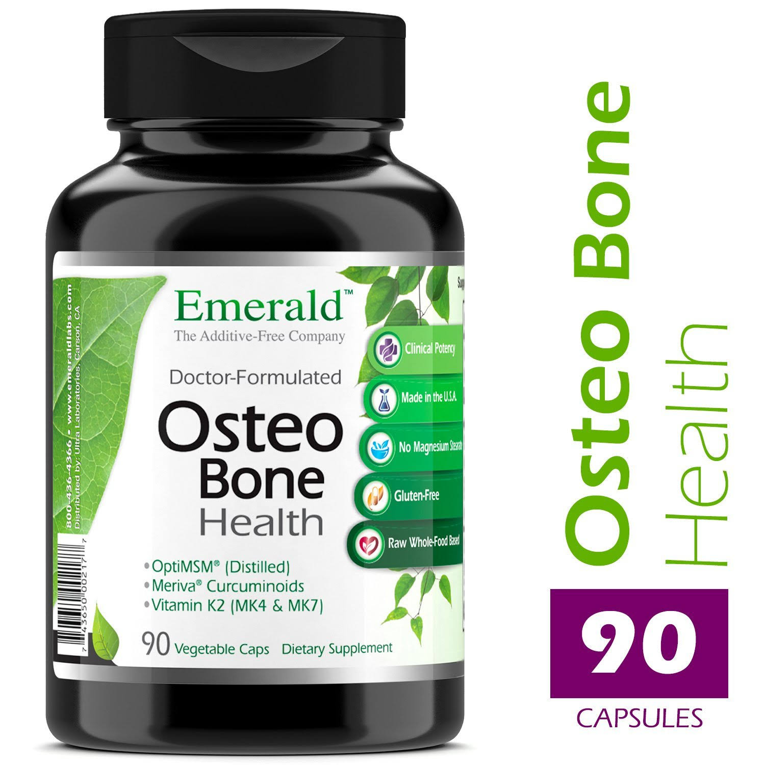 Emerald Laboratories Osteo Bone Health Dietary Supplement - 90 Capsules
