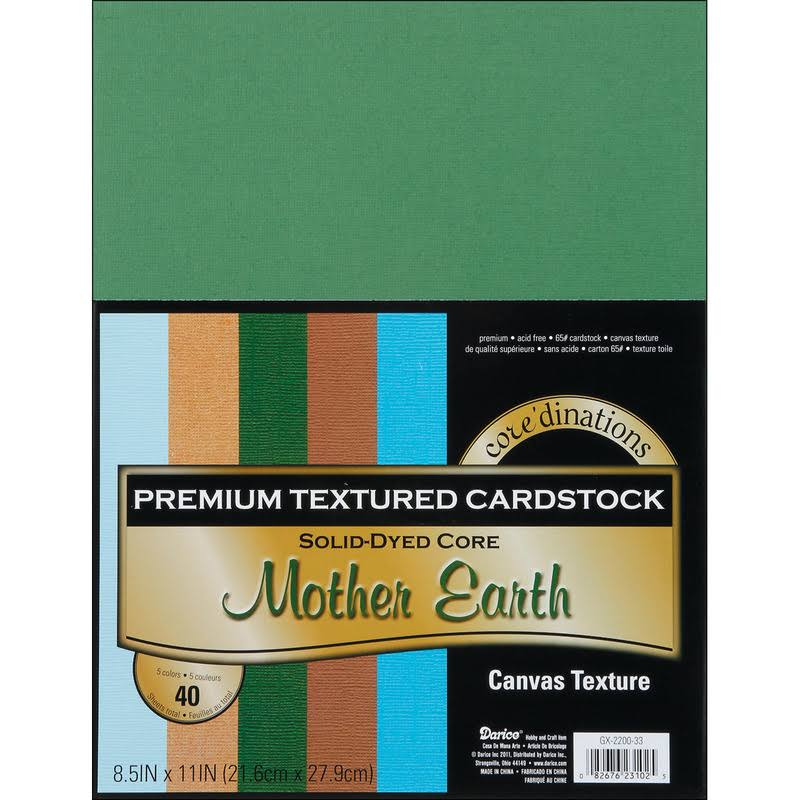 "Core'dinations Premium Cardstock - Mother Earth, 8.5""x11"", 40pk"