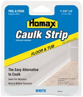 "Homax Tub & Floor Caulkstrip - White, 1-1/4""x5'"