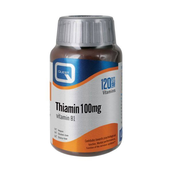 Quest Vitamin B1 Thiamin - 100mg, 120 Tablets