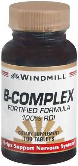 Windmill B-Complex Dietary Supplement - 100 Tablets