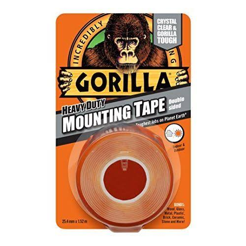 Gorilla Glue Heavy Duty Mounting Tape - Double Sided, Clear, 1.5m