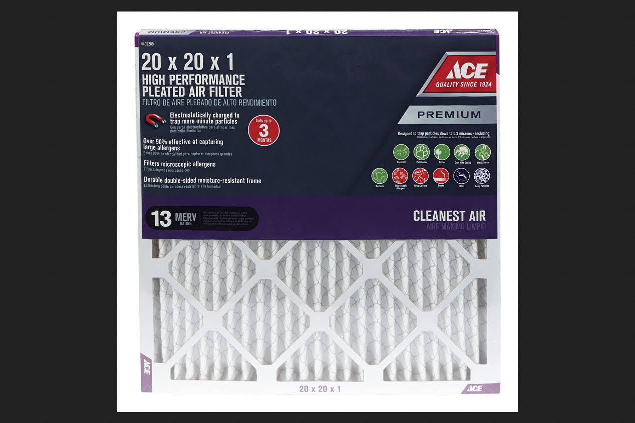 "Ace Pleated Furnace Filter - 20"" x 20"" x 1"""