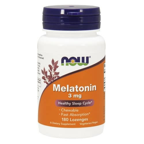 Now Foods Melatonin - 3mg, 180 Lozenges