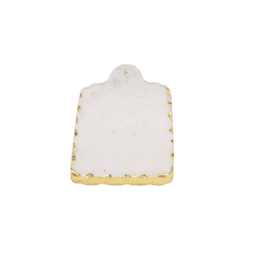 Mud Pie Rectangular Gold Marble Small Board