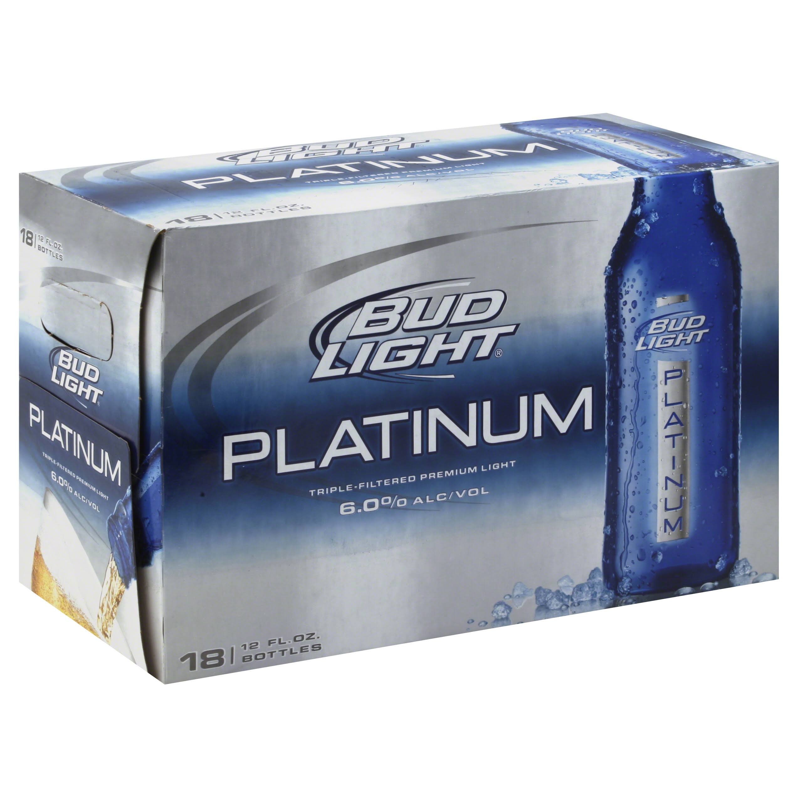 Bud Light Platinum Beer - 18x12oz