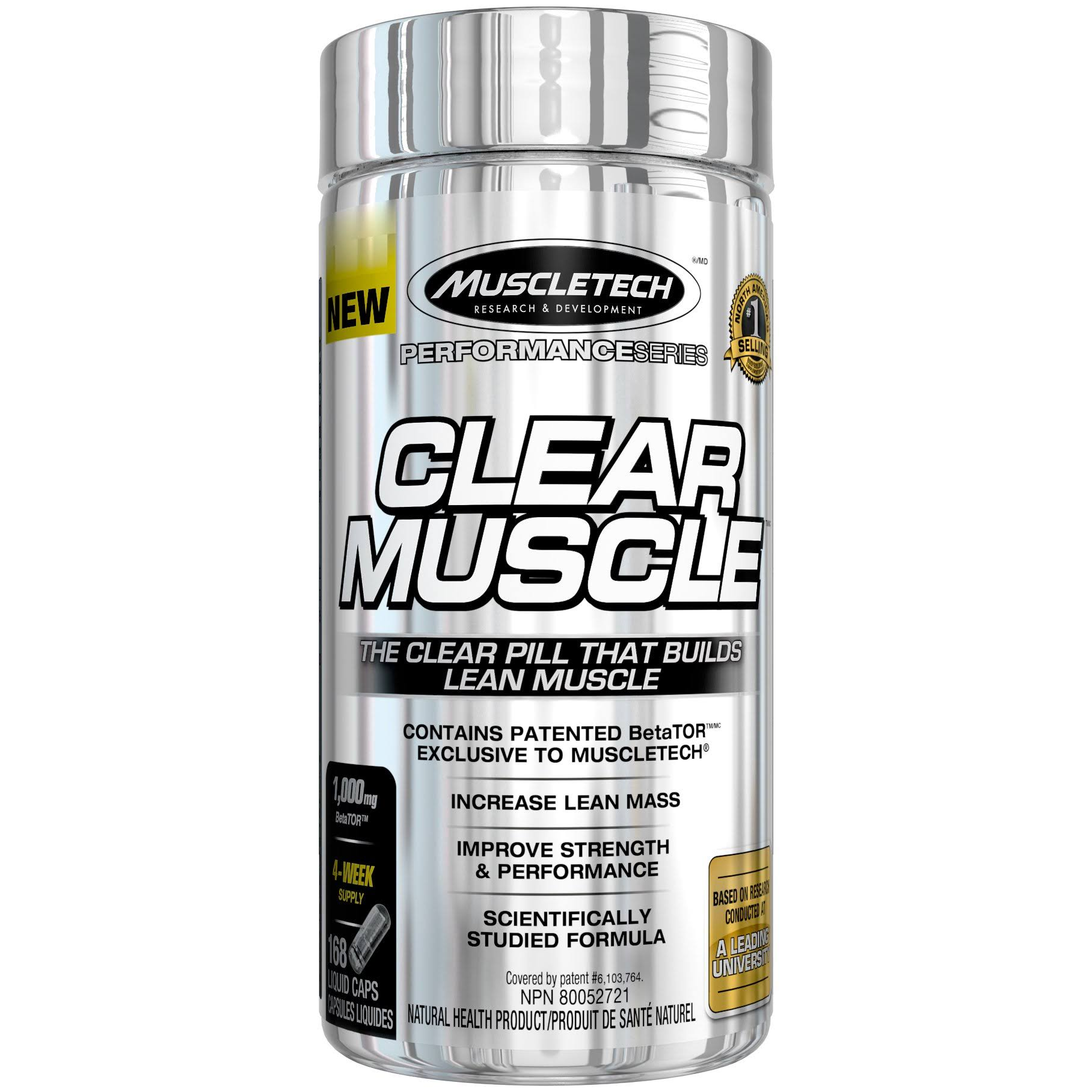 MuscleTech Clear Muscle Sports Supplement - 168 Capsules
