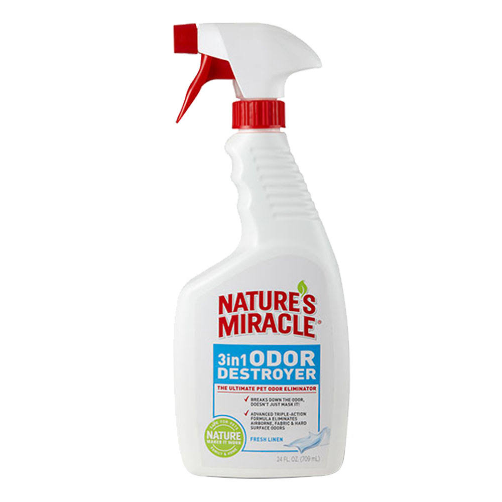 Nature's Miracle 3in1 Odour Destroyer Spray - Fresh Linen, 24oz