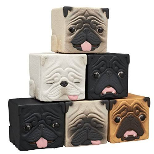 Kitan Club Hako Pug Cube Toy - Blind Box Includes 1 of 6 Collectible Dog Figurines