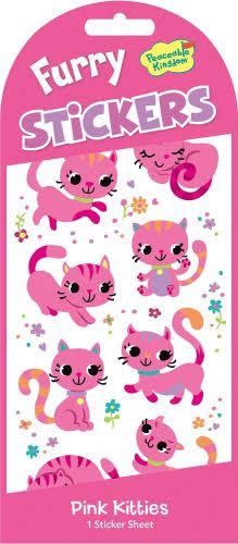 Peaceable Kingdom Pink Kittens Sticker - 1 Sticker Sheet