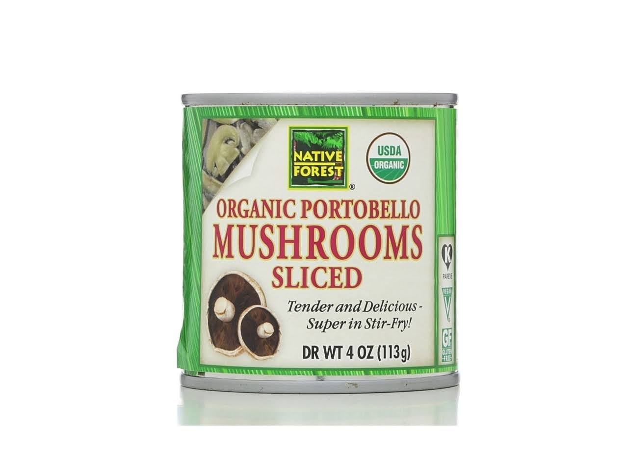 Organic Sliced Portobello Mushrooms - 4oz