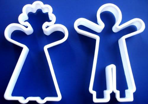 1 x New Gingerbread Man Doll Girl Boy Groom Bride Man Woman Sugar Cookie Biscuit Cutter