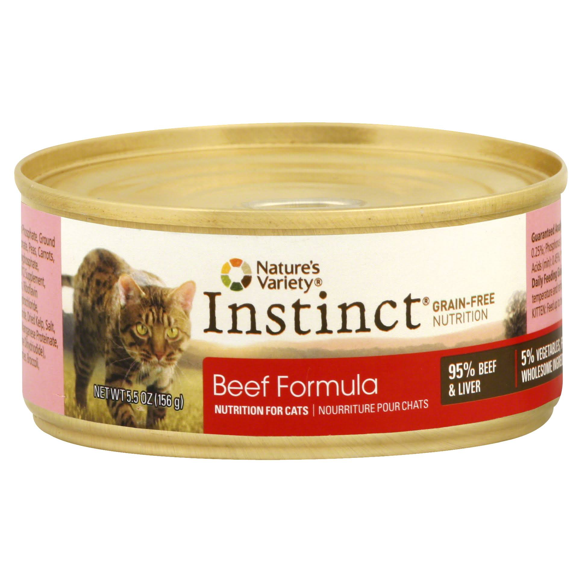 Nature's Variety Instinct Cat Food - Beef Formula
