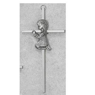 "McVan 6"" Silver Girl Cross"