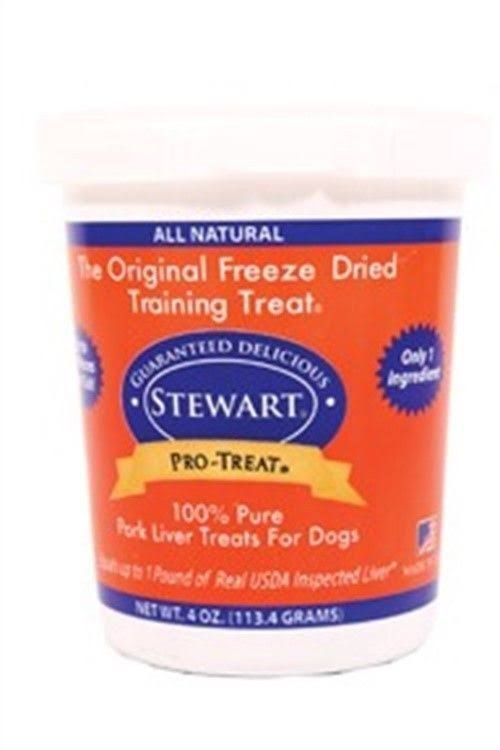 Miracle Stewart Pro-Treat Freeze Dried Dog Treat - Pork Liver, 4oz