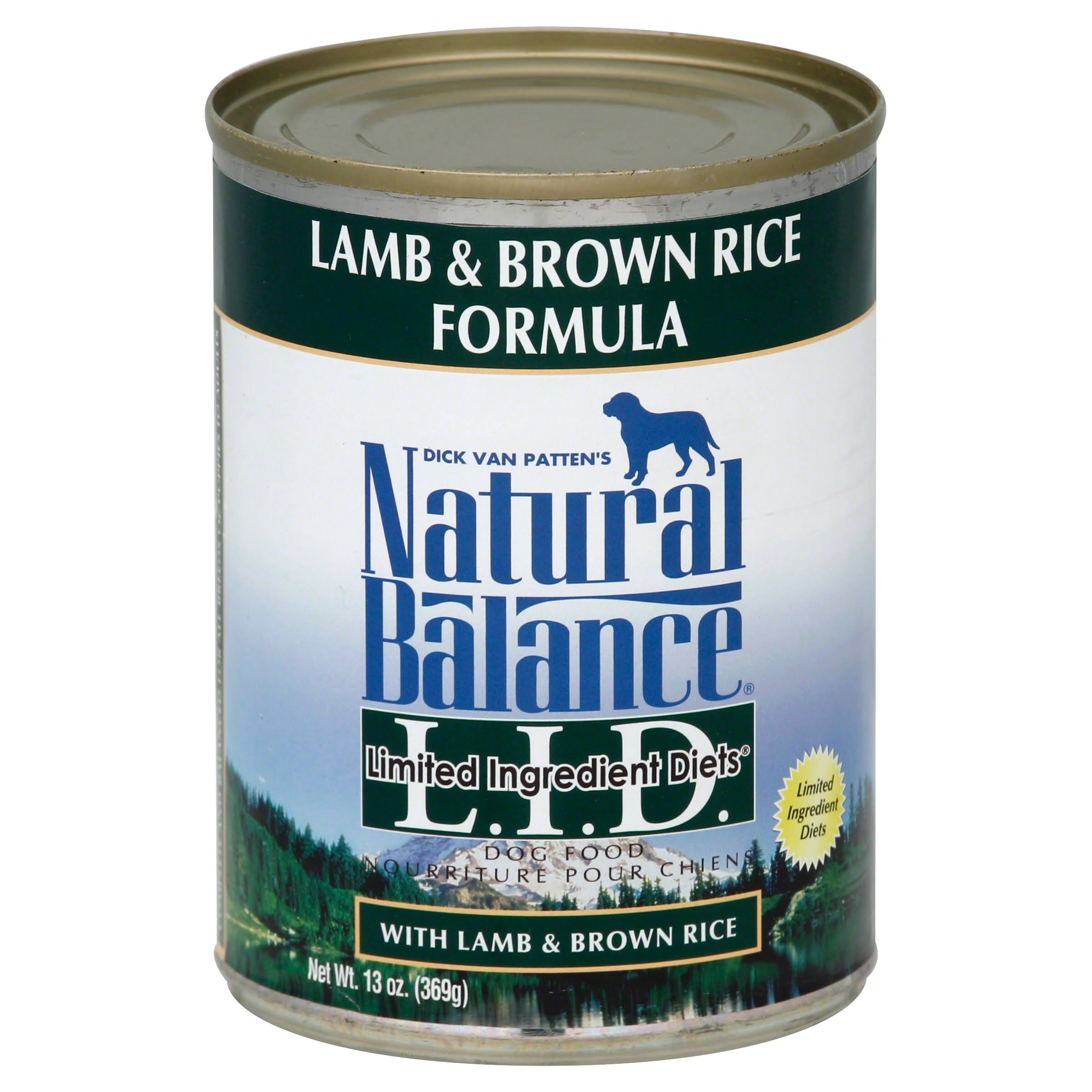 Natural Balance Limited Ingredient Diet Dog Food - Lamb & Brown Rice Formula, 369g