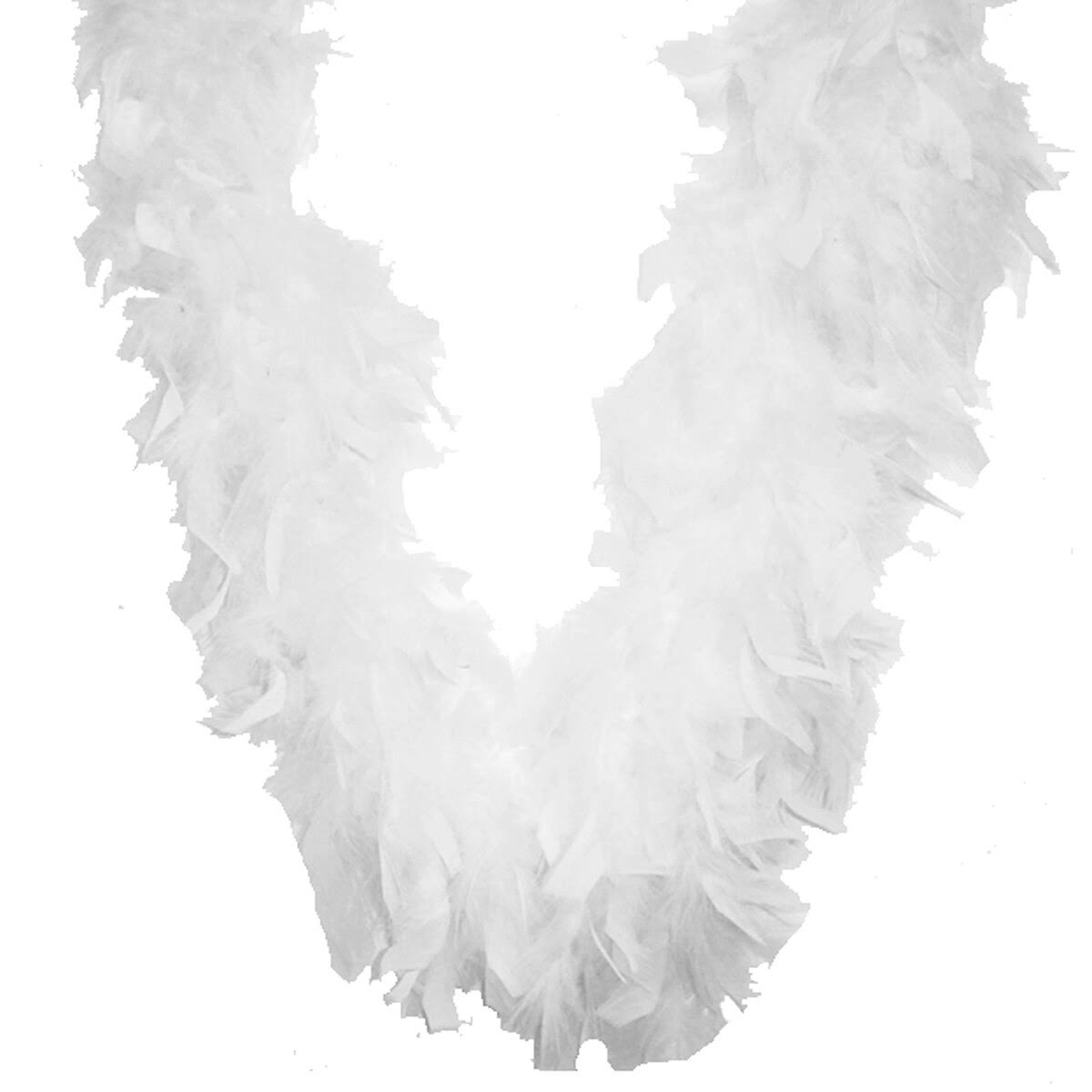 Midwest Design Chandelle Feather Boa - White, 72""
