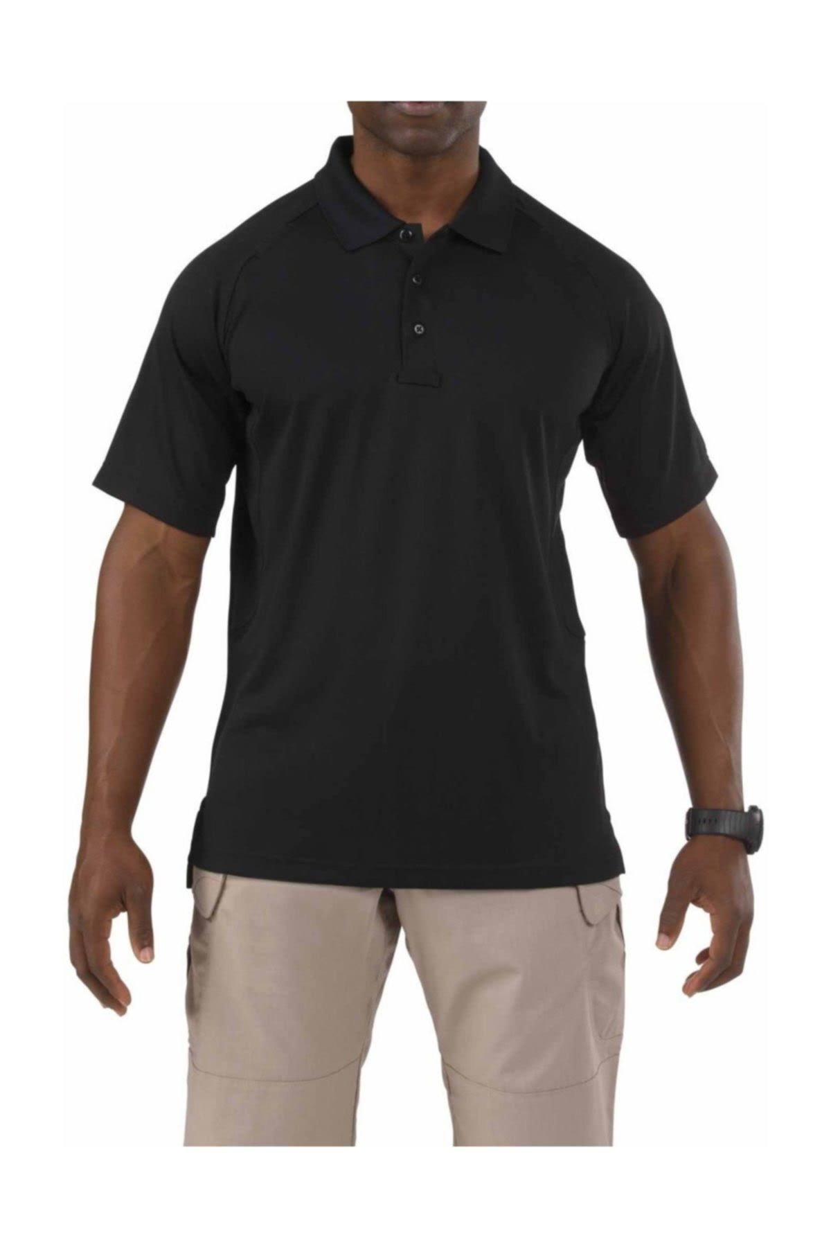5.11 Tactical Performance Polo Short Sleeve - Black, X-Large
