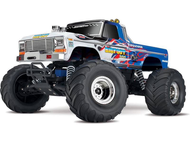Traxxas Bigfoot RC Monster Truck with Remote Toy - Blue, 1:10 Scale