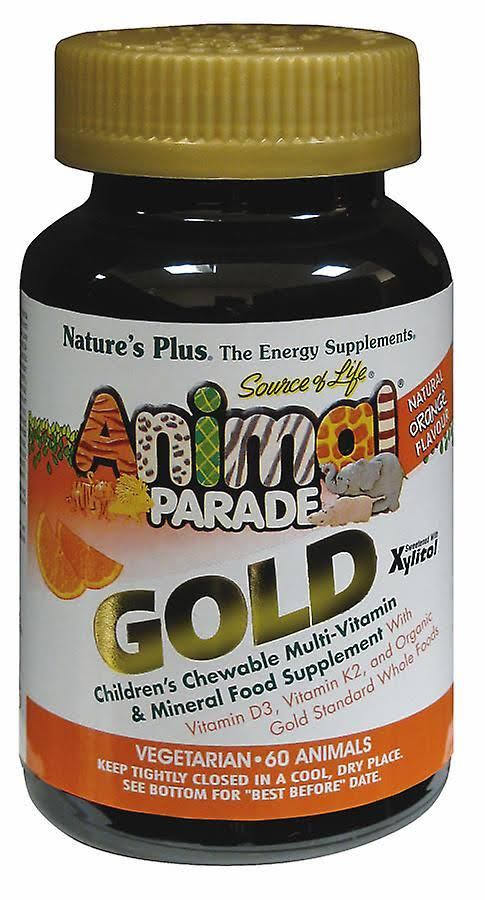 Nature's Plus Animal Parade Gold, Orange, 60 Chewables