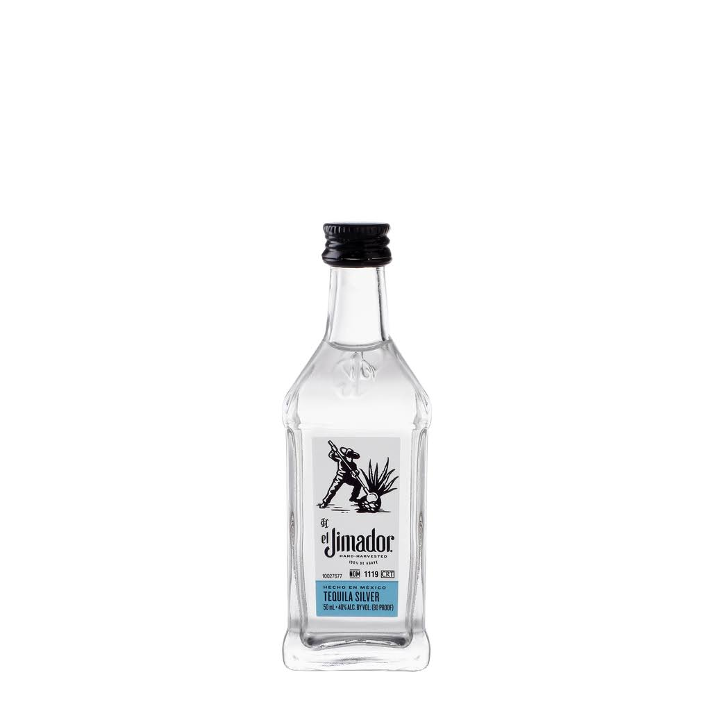 El Jimador Silver Tequila, 50 ml, 80 Proof