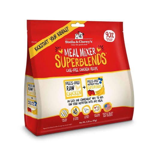 Stella & Chewy's - Freeze-Dried Dog Food Meal Mixer SuperBlends Cage-Free Chicken Recipe - 3.25 oz.