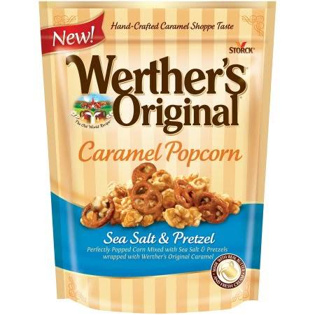 Werthers Original Sea Salt Popcorn - Caramel and Pretzel, 6oz