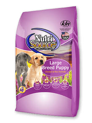 NutriSource Large Breed Puppy Chicken & Rice Formula 5 lbs | Dog Food