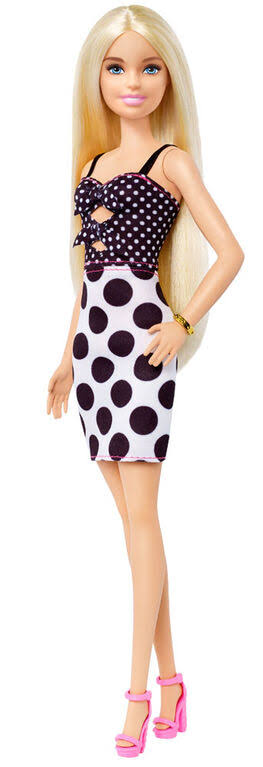 Barbie Fashionistas Doll with Long Blonde Hair - Polka Dot Outfit
