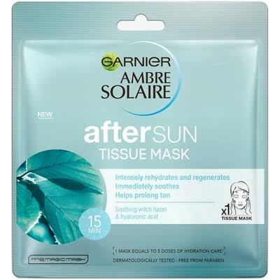Ambre Solaire After Sun Cooling Hyaluronic Acid Face Sheet Mask - 32g